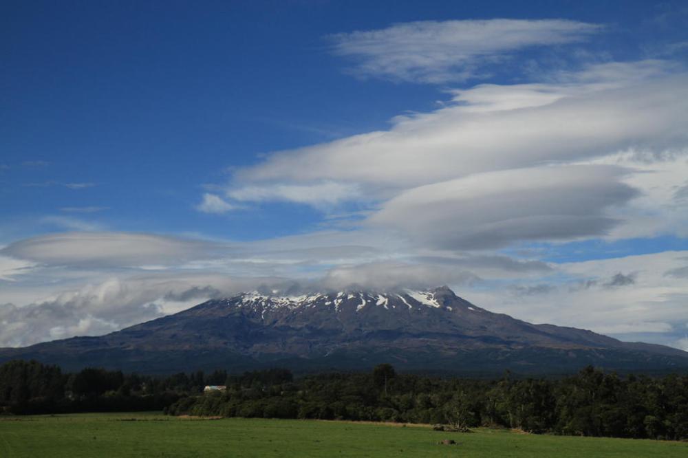 tongariro vulkan panorama schnee