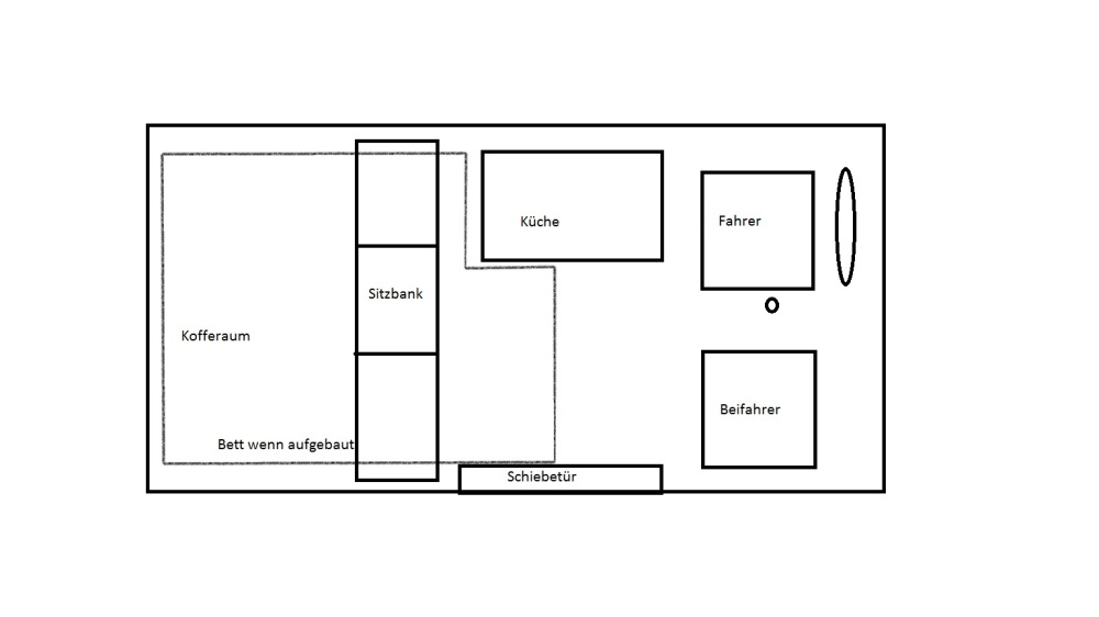 Bett T4 schnell gebaut Grundriss