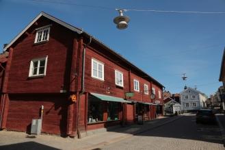 und Holzhäuser in Eksjö